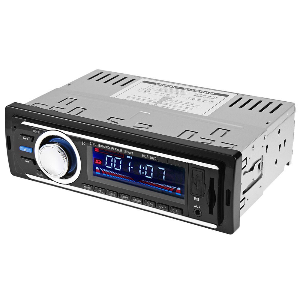 universal car radio car radio plaryer 12v auto audio stereo fm receiver sd mp3 player aux usb. Black Bedroom Furniture Sets. Home Design Ideas