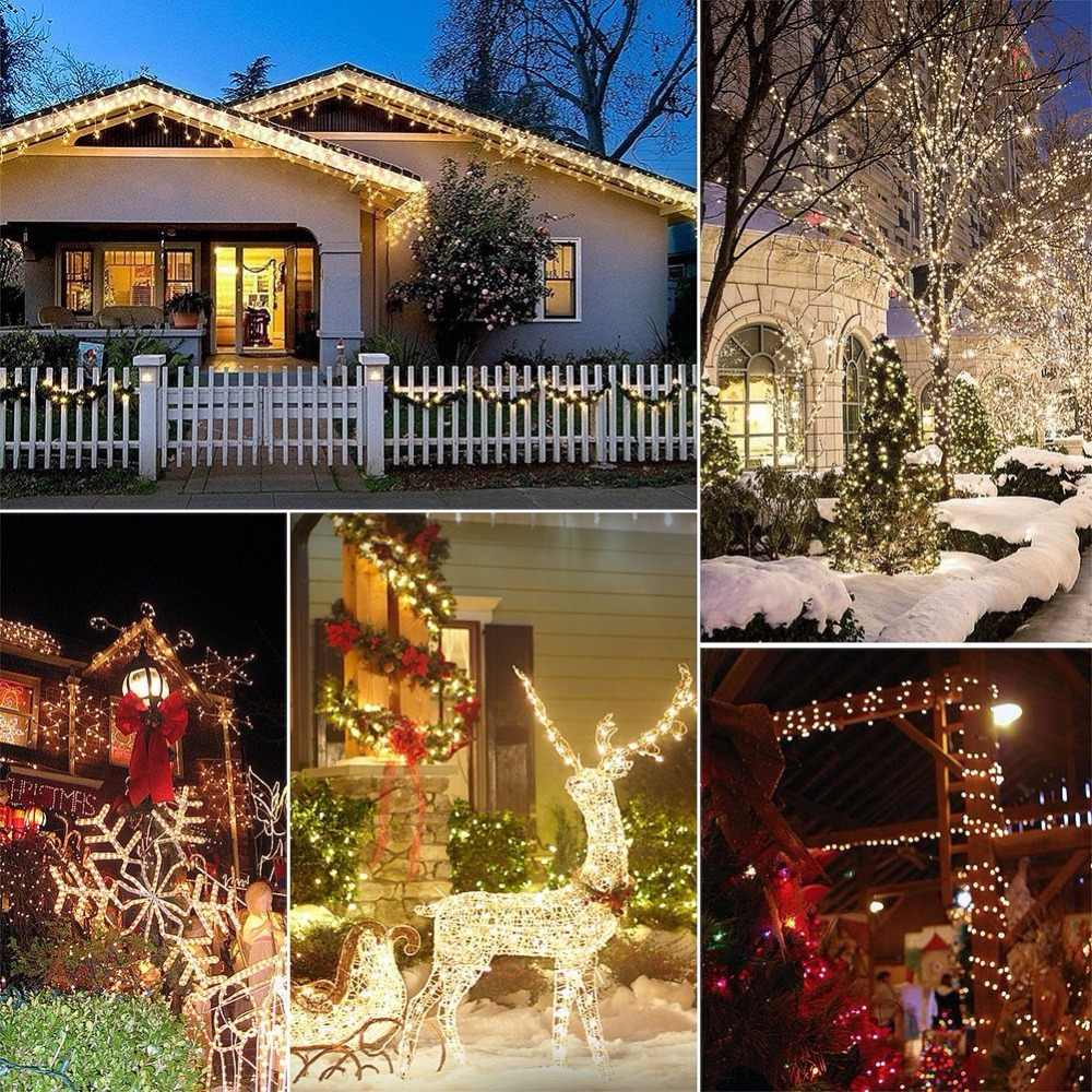 Girlanda z lampkami LED w kolorze ciepła biel o długości 10 m, dekoracja LED w kolorze drutu, ozdoba świąteczna, wesele, przyjęcie, impreza, zasilane przez USB