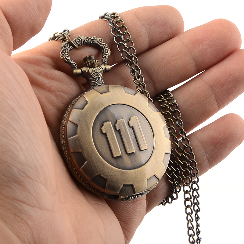Fallout 4 – Vault 111 Steampunk Style Necklace Pendant Pocket Watch