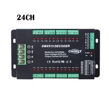 Decodificador DMX512, 24 canales, tira de luces LED RGB, regulador de intensidad estándar DMX512, DC9V 24V de señal, controlador DMX 24CH