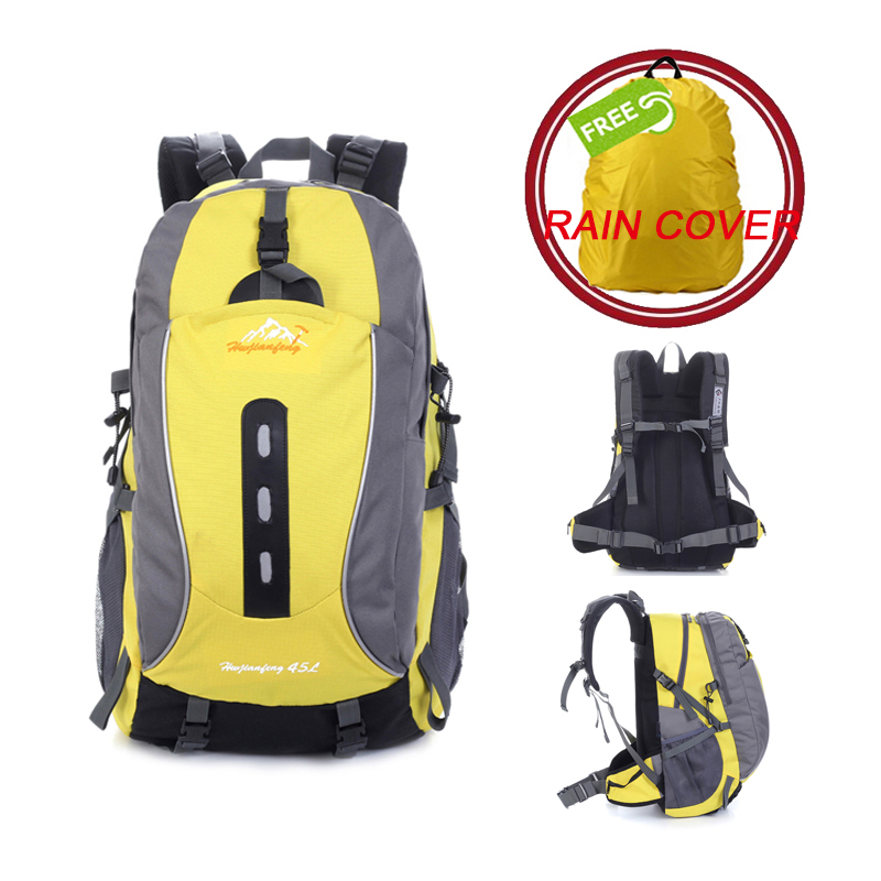 Hot Sale 45L Outdoor Backpack Camping Bag Waterproof Mountaineering Hiking Backpacks Molle Sport Bag Climbing Rucksack