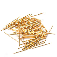 цена на Total Length 27.8mm Spring Test Probe Tip Spring Gold Plating For Testing Circuit Board Instrument Tool Test Spring PAM75-F1
