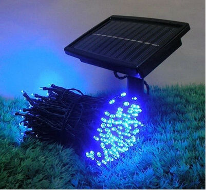 100 LED udendørs gul sol lamper LED String Lights Fairy Holiday Jul Fest Garlands Solar Garden Vandtæt Lights