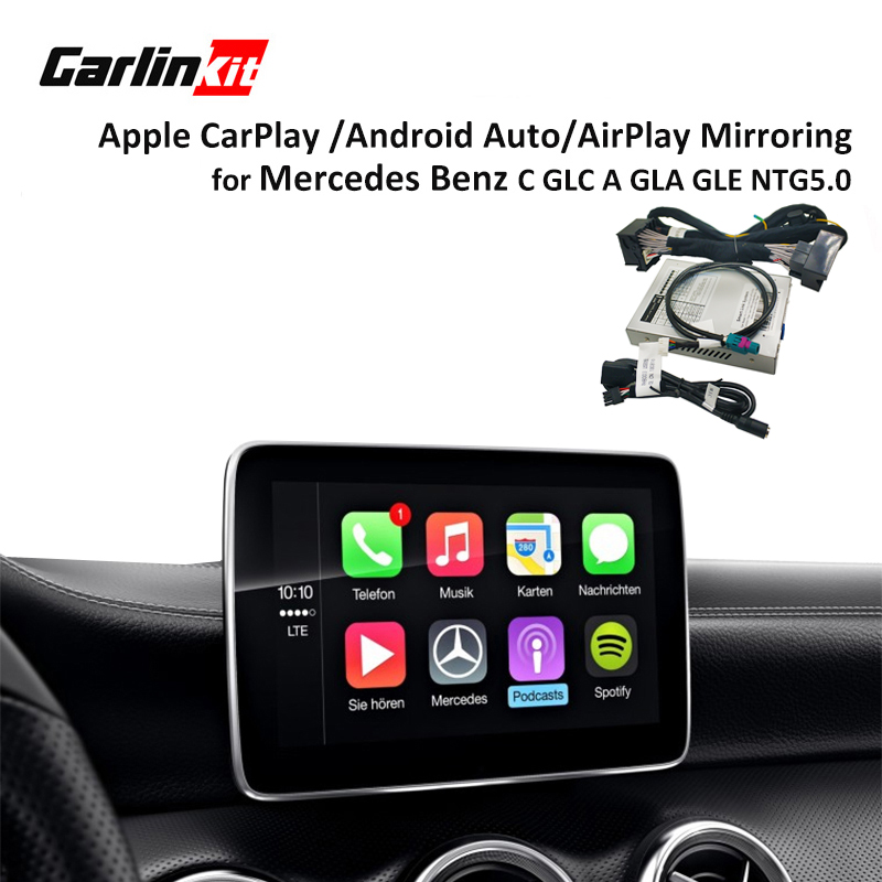 Multimedia astuto auto Retrofit con Apple Carplay box per Mercedes NTG5 Classe C W205 GLC W253 iOS 2015-2017 airPlay