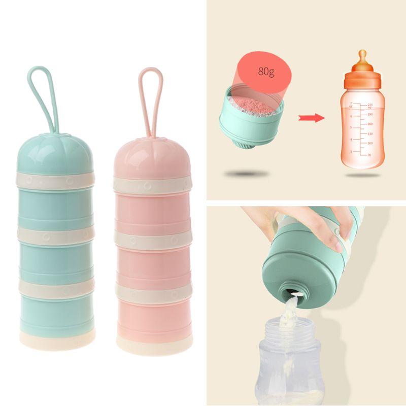 Nette Kürbis Baby Milch Pulver Box Lebensmittel Lagerung Snack Box 3 Schichten Tragbare Infant Milch Pulver Behälter Mar-20 Mutter & Kinder