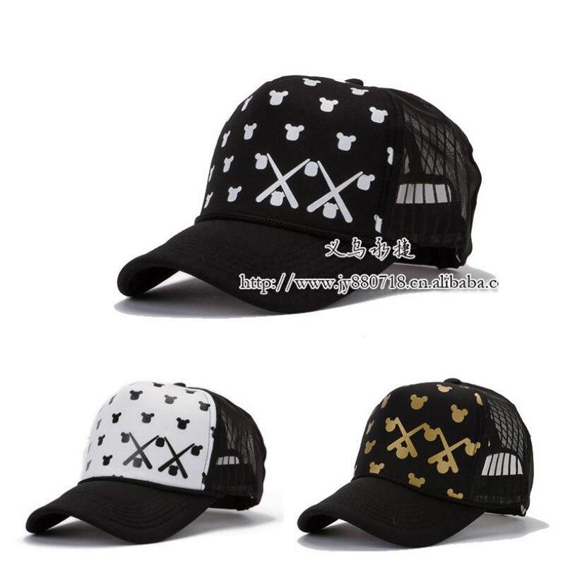 Mickey head Cap Mesh Cap Summer Hat Men and Women Baseball Cap Hat Edition  Snapback Hats de27e7e50c5