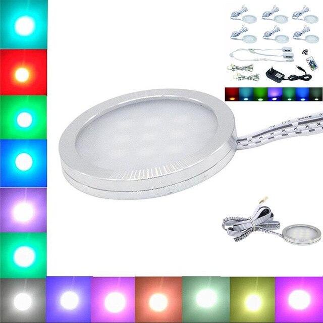 Yrank 6 lampen led puck downlighters onder kast rgb kleur veranderen ...