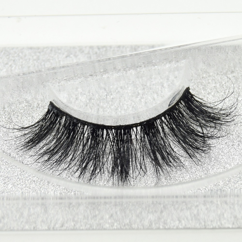 New 3D Real Mink Eyelashes Thick Long Fake Eyelashes False Full Strip 100% Handmade Eyelashes Extension Makeup 1 Pair D05