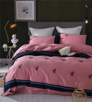 Weiß Rosa 100% Ägyptischer Baumwolle Stickerei Schmetterling Bettwäsche Set Königin King size Bettbezug Bett/Fit blatt set Kissenbezug Bedclo
