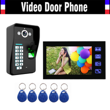 7″ Touch Mointor Video Door Phone Intercom Doorbell System Fingerprint ID Card password code Video Doorphone kit for Home Villa