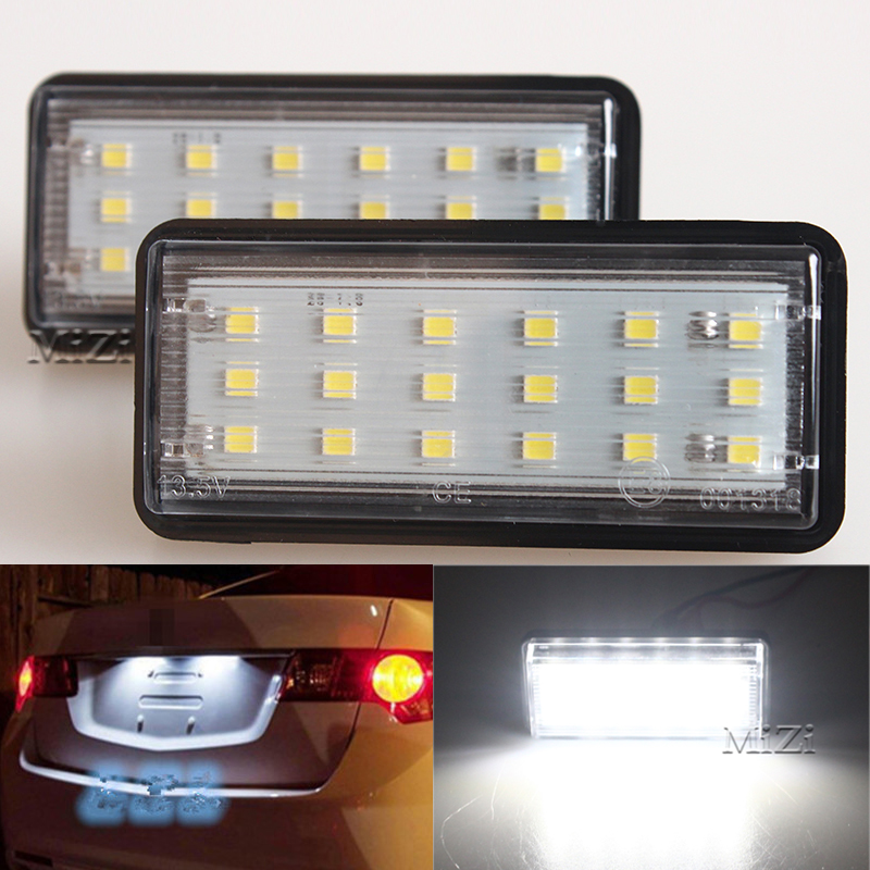 2pcs Error Free Car LED Number License Plate Light Kit For Lexus LX470 GX470 Toyota Land Cruiser 120 Prado Land Cruiser 200