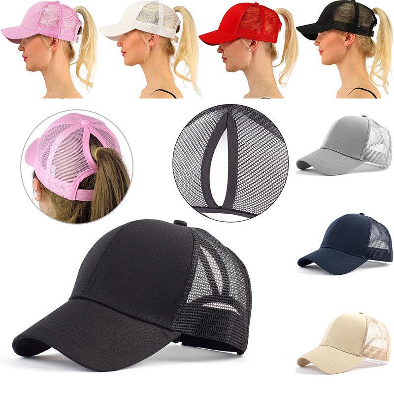 1PCS Summer Women Mesh Cap Ponytail Baseball Caps Fashion Snapback Caps For Women&Man Sport Hat Unisex Tennis Caps Dropshipping