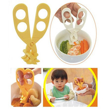 Professional Plastic Baby Food Scissors Crush Baby Food Supplement Scissors Blister Card Package 1 Piece