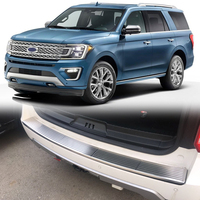 For Ford Expedition 2018 2019 Car Styling Rear Outer Bumper Plate Guard Cover Frame Cover Trim
