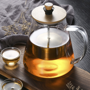 Image 2 - Stainless Steel Infuser Teapot Clear Borosilica Glass Filter Heat Resistant Coffee Puer Tea Pot Heated Container Boiling Kettle