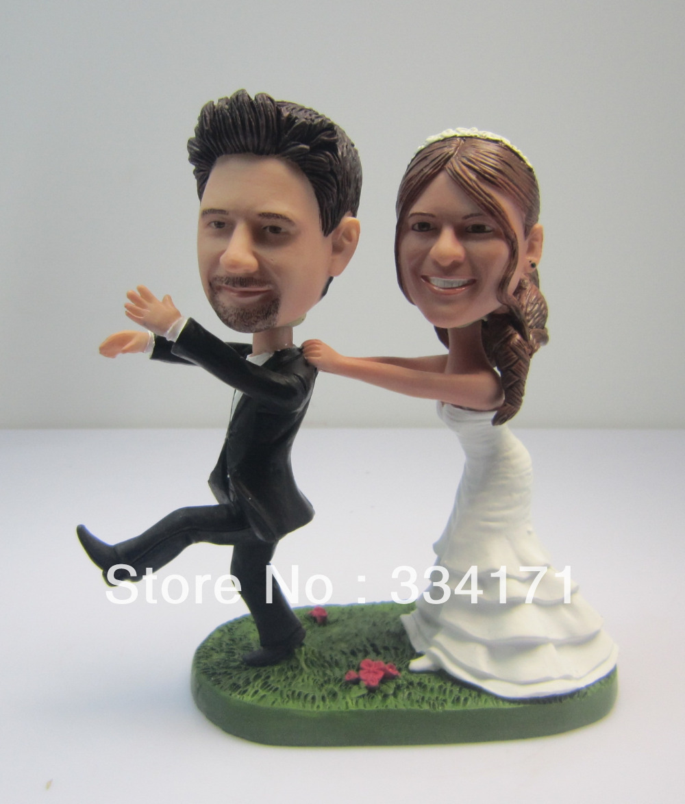 ᑐPersonalized bobblehead doll let\'s run away wedding gift wedding ...