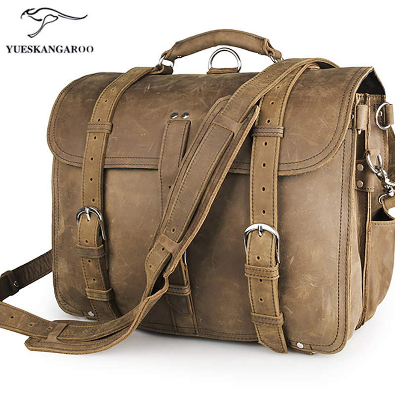 29b6cb86c4 Best buy 100% genuine leather men business bag Top quality Mens briefcase  handbags shoulder bags messenger laptop. 7072R online cheap