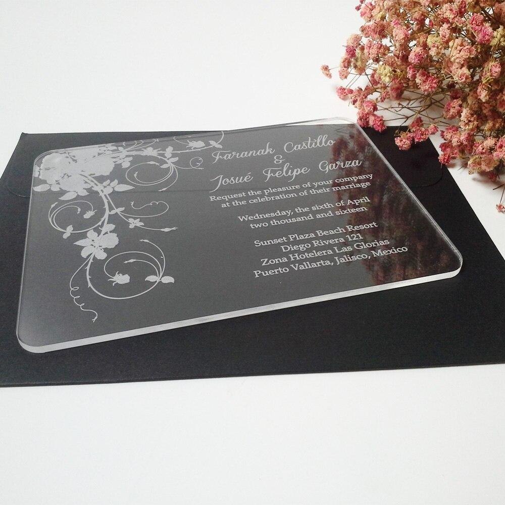 Προσαρμοσμένη σαφής ακρυλική κάρτα - Προϊόντα για τις διακοπές και τα κόμματα - Φωτογραφία 2
