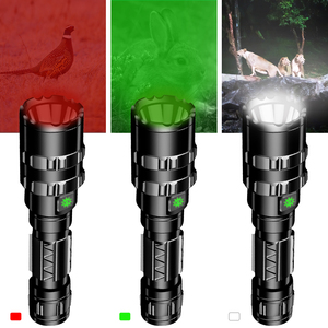 Image 5 - Hunting Flashlight Professional Tactical LED Flashlight USB Rechargeable Waterproof Torch Red/Green/ White L2 Scout Light