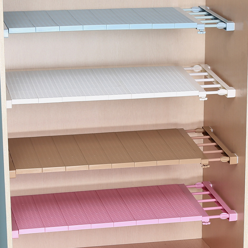 16 Colors Adjustable Closet Organizer Storage Shelf Wall Mounted Kitchen Rack   Wardrobe Decorative Shelves Cabinet Holders 10