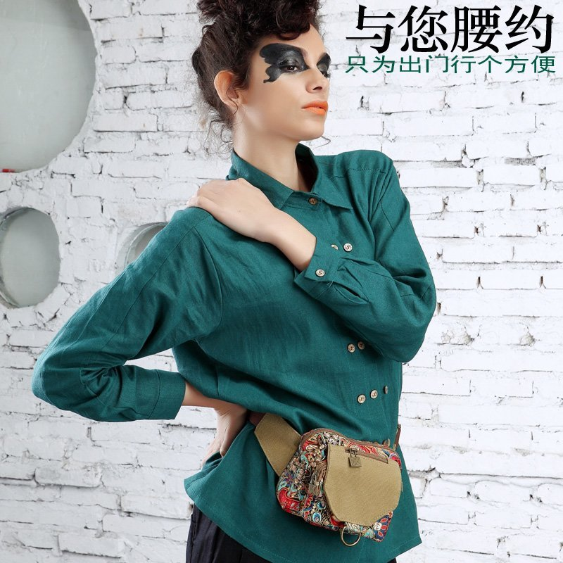 Купить с кэшбэком Daypack Time-limited Limited Shoulder Bags Flap Denim New Leisure 2019 Female Han Banchao Small Pocket Bag Waist Mail