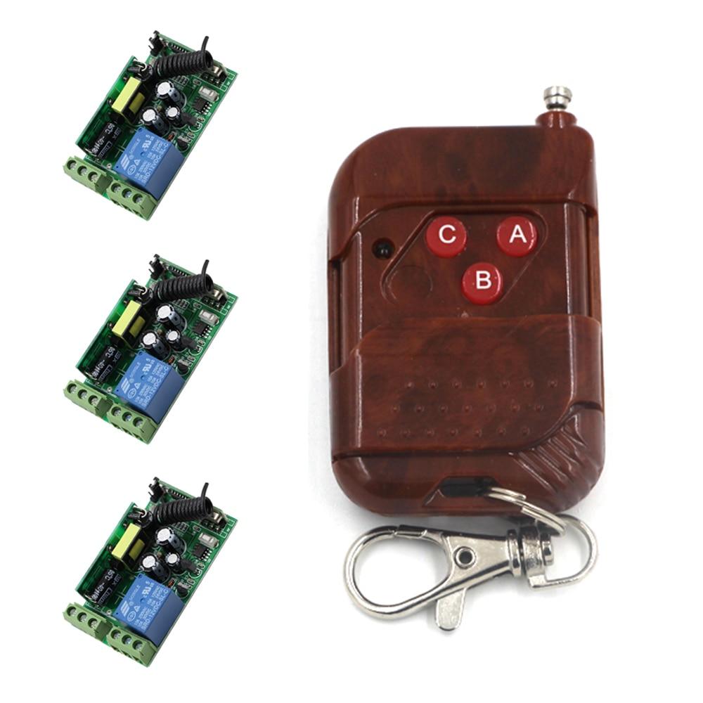 AC85V 110V 220V 250V 1 CH 10A RF Wireless Remote Control Switch System 3 Receiver & 1 Transmitter Peach 7166 ac 85v 110v 220v 250v rf 1 ch wide voltage wireless remote control switch system receiver