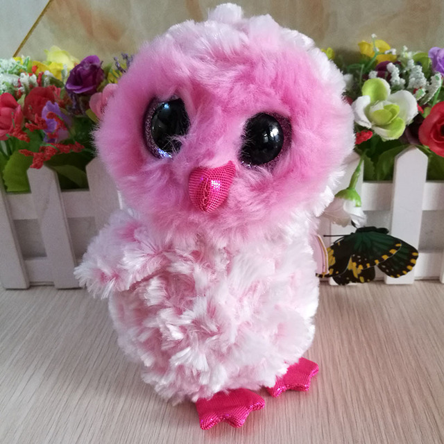 Ty Beanie Boos Collection Plush Toy 15cm twiggy Owl Soft Pink 6 inch Kids  Toy Birthday Gift Stuffed Animal In Stock 94e2fe0d26e