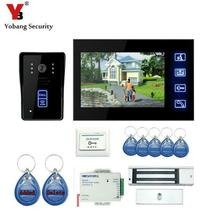 Yobang Security 7″ Color Screen video intercom Waterproof Visible wired Home door intercom with color camera Night Vision