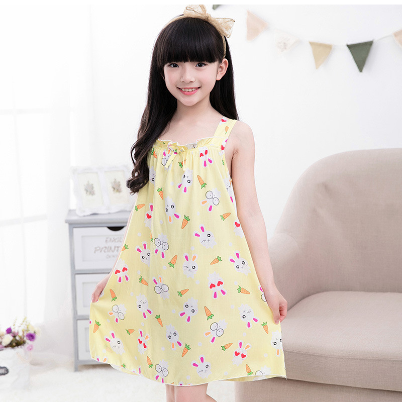 d2a0463a34771 US $16.73 |Girls Worsted Nightdress Kids Sleepwear Dress Cute Print Cartoon  Princess Children Nightgown Dresses Teenager Slip Skirt Pajamas-in ...