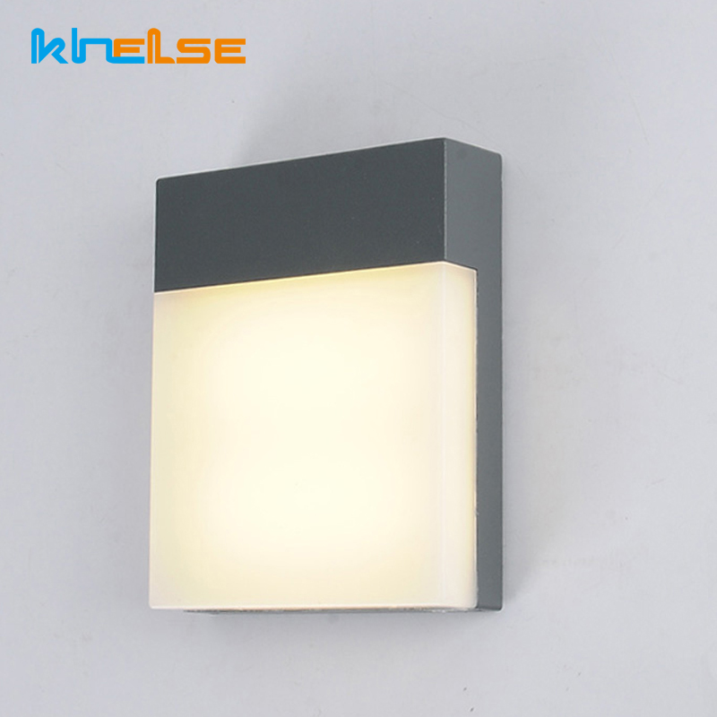 Us 26 73 30 Off 18w Outdoor Gate Lighting Fixture Modern Led Wall Lamp Waterproof Ip65 Yard Garden Corridor Wall Light 85 265v Indoor Home Decor In
