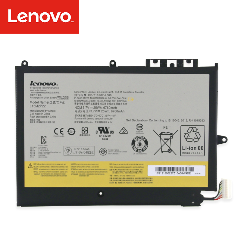 Original Laptop Battery For Lenovo MIIX2 10 Series  L13M2P22 L13N2P21 1ICP4/83/103-2
