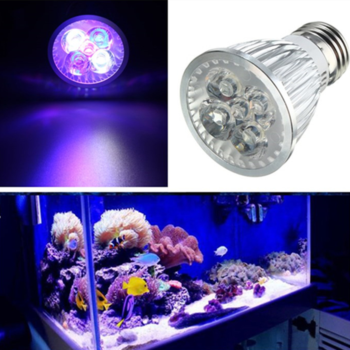 LED Grow Light 5W UV IR Led Growing Lamp E27 Aquarium Coral Reef Plant Vegs Growth Led Lamp PAR38 PAR30 For Hydroponic