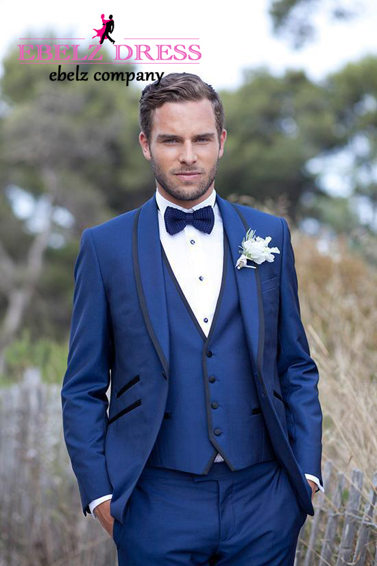 Online Shop 2015 Hot Wedding Tuxedos Suits 3 Pieces Royal Blue ...