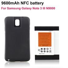 Pour Samsung Note3 Smartphone NFC Batteria 9600 mAh A Prolongé La Batterie + Noir Cas de Couverture Pour Samsung Galaxy Note 3 III N9000