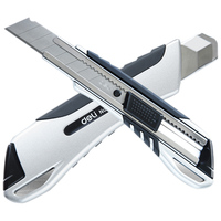 High Quality Zinc Alloy Large Size Utility Knife Auto Lock Paper Cutter Razor Blades Knife School