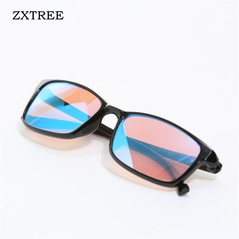 ZXTREE Color-blindness Glasses Red Green Color Blind Corrective HD Glasses Women Men Colorblind Driver's license Eyeglasses Z368