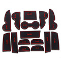 Slot Pad Cup Mat Pad Non-slip Mat rubber door gate slot mat Car Accessories for 2010 2011 2012 Hyundai  IX35 15pcs