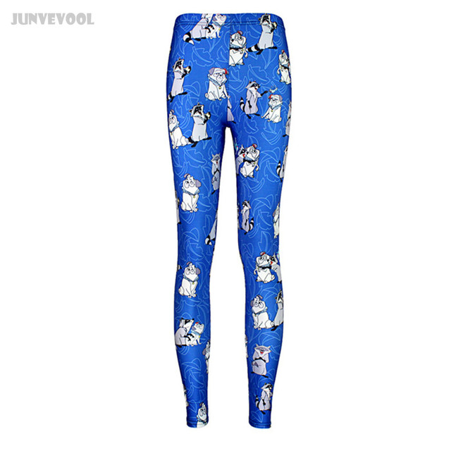 Leggings 4Xl Plus Size Pants Womens Sexy Popular Retro Print Sexy Silm Leg Pants Women Fitness Appearl Cute Raccoon Cartoon Dog