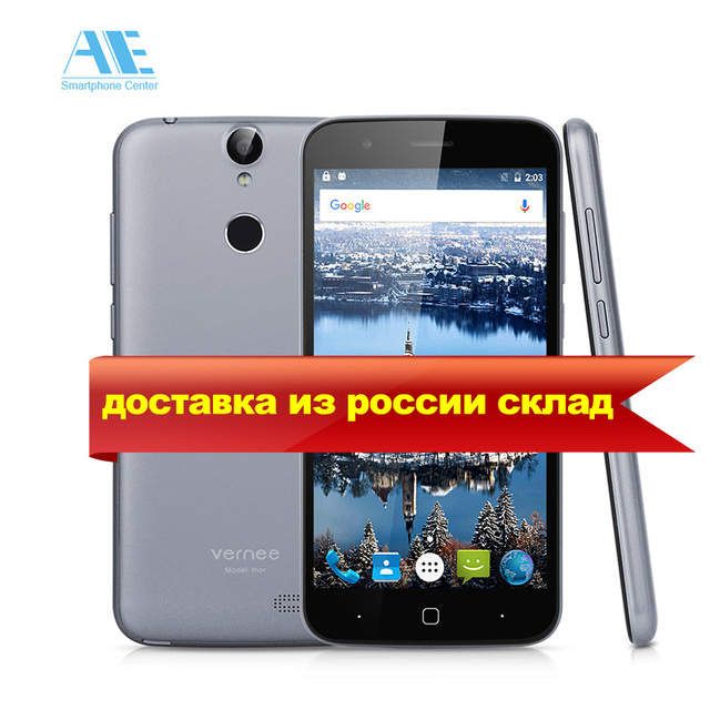 Vernee Thor MTK6753 Octa Core Android 6.0 Cellphone 5.0 Inch Fingerprint 3GB RAM 16GB ROM Smartphone 4G LTE Mobile Phone