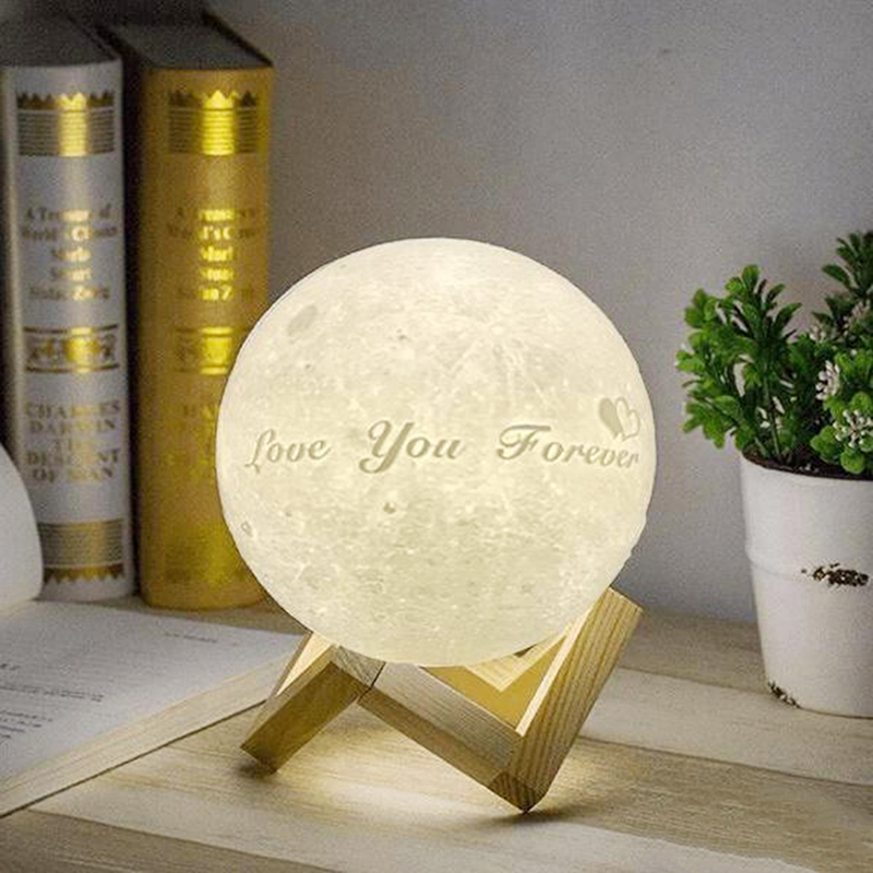 Customized 3D Enchanting Moon Lamp Two Colors/RGB 16 Colors Moon Night Light Love you to the moon and back Night Lamp # verne j from the earth to the moon and round the moon isbn 9785521057641