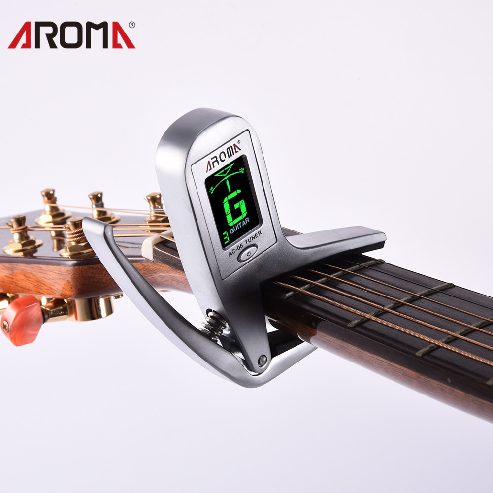 buy aroma ac 05 2 in 1 electric guitar bass tuner capo zinc alloy guitarra. Black Bedroom Furniture Sets. Home Design Ideas