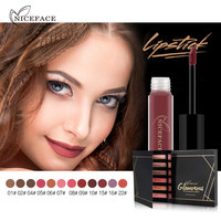 Niceface 12pcs Set Eyeshadow Glitter Liquid Makeup Matte Eyeshadow Cosmetic Maquillaje Gift Box