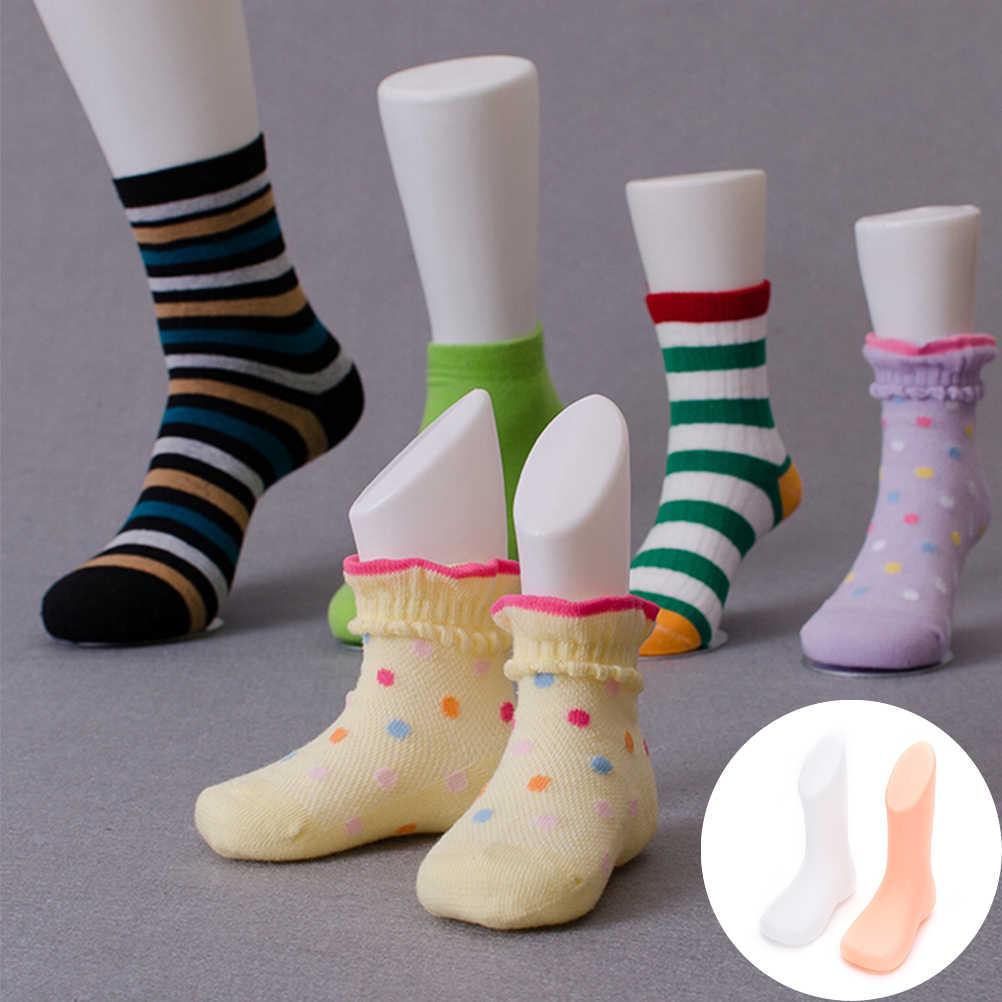 Scarpe Calzino Display 2 Colori Calzini Per Bambini Strumento di Forniture di Plastica Dura Piedi Mannequin Piede Strumenti Modello di Alta qualità e poco costoso