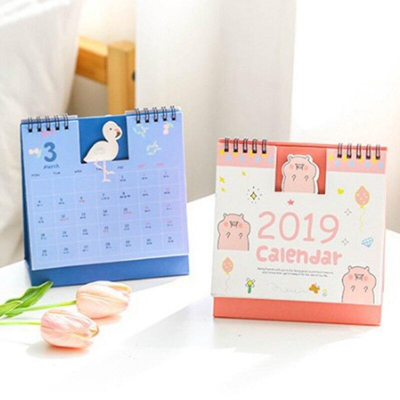Kalender 2019 Schreibtisch Kalender Nette Einhorn Flamingo 2019 Planer Schreibtisch Kalender Liefert Büro Dekoration Organizer Schnelle WäRmeableitung Kalender, Planer Und Karten