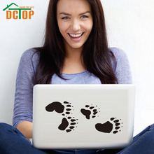 DCTOP Bear Tracks Paws Art Design Laptop Sticker Waterproof PVC Wall Stickers Home Decor Self Adhesive