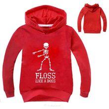 2-16Y  2019 Floss Like A Boss Funny Dance Graphic Print Hooded Kids Hoodies Girls Sweatshirts Hip Hop Streetwear
