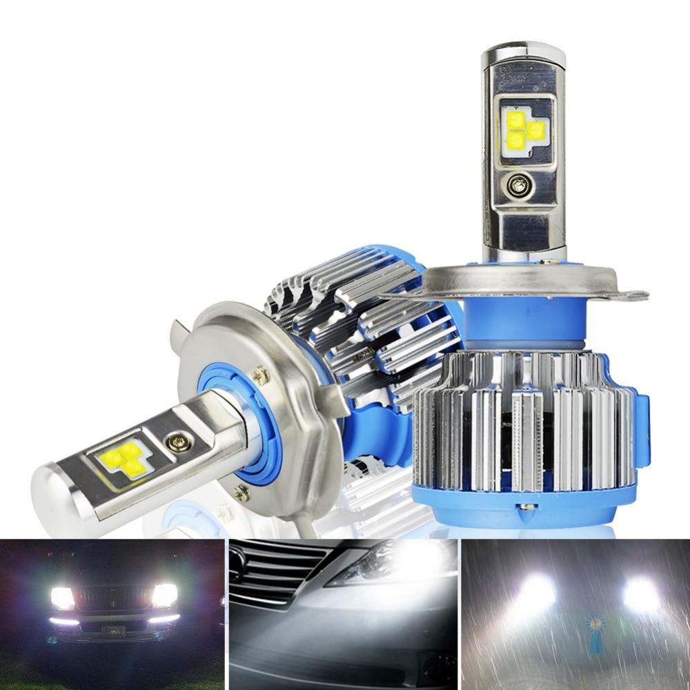 H4 H7 H8911 LED Car Headlight Bulbs Kit - Safego 75W Hi/Lo Car LED Headlight Kit Bulbs 6Chips Tailor Made 7000Lm Auto Bulb