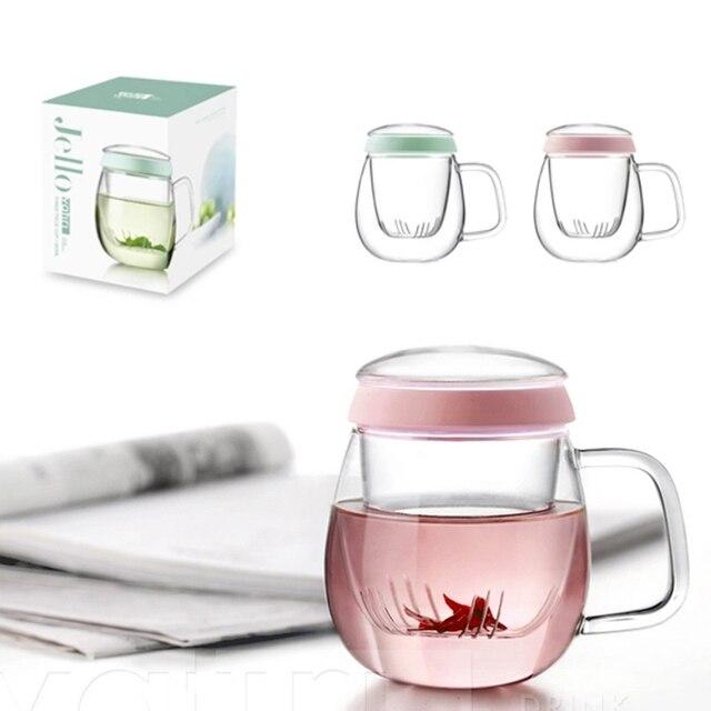 acheter 320 ml double paroi en verre tasse int rieure infuseur et couvercle. Black Bedroom Furniture Sets. Home Design Ideas