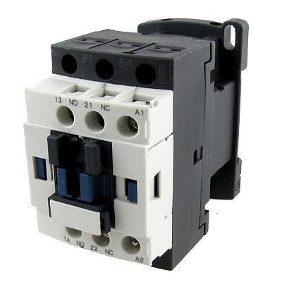 LC1D09 690V Ui 6KV Uimp NO NC 3 Poles AC Contactor 220V 50/60Hz 25A ct 2p 25a no nc ac220v home ac contactor often open ct1 25 25a lyn brand