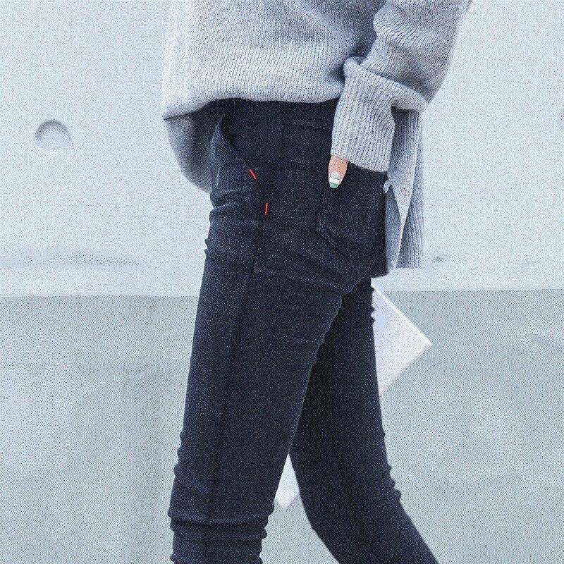 New 2018 Washed Women Imitation Jeans Mujer Stretch Cotton Denim Pants Trousers Boyfriend Big Size Skinny Jeans Pencil Pants